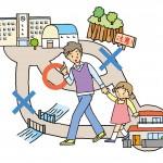家族で避難経路を確認しましょう!防災マップの使い方